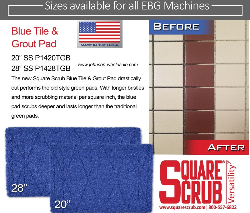 Ss P1420tgb Blue Tile And Grout Scrubbing Pad 14x20 Each