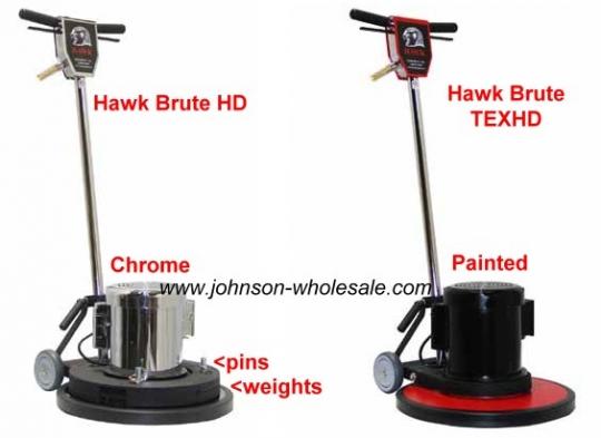 hawk brute buffer floor machine severe duty 1.5hp enclosed call