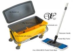 KIT-PRESS Floor Finish Kit 8 Gal Bucket Handle Mops