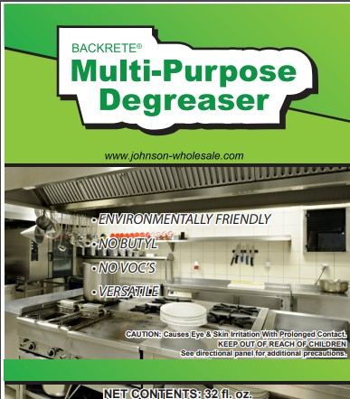 BacKrete MPDE Multi Purpose Degreaser 6/qts cs