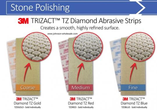 3m Ss Tzdred Trizact Red Diamond Tz Abrasive Strips Red Medium 3 75x9 Inch Each