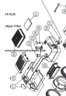 Minuteman V14 Pro And V17 Pro Plus Vacuum Parts Johnson